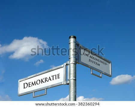 Democracy - one expression system - stock photo