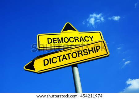 democracy or dictatorship Democracy (greek: δημοκρατία, dēmokratía literally rule of the people), in modern usage, is a system of government in which the citizens exercise power directly or elect representatives from among themselves to form a governing body, such as a parliament.
