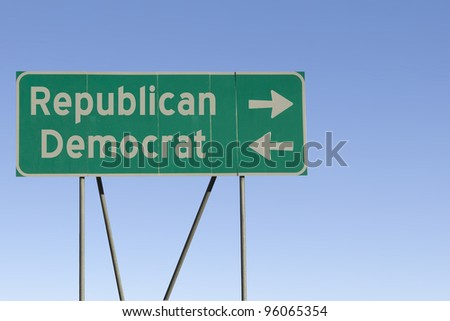 democrate or republican....what are you for 2012? - stock photo