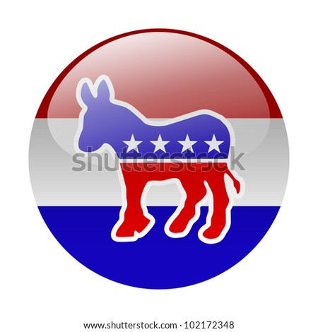 Democratic party button - stock photo
