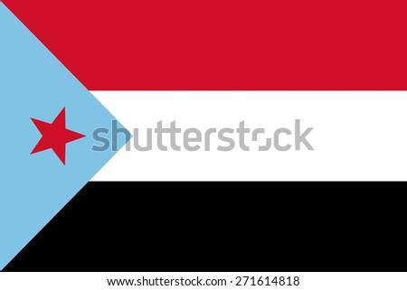 democratic republic of yemen country flag national symbol - stock photo
