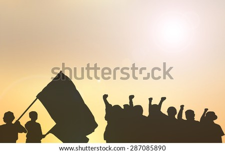 Democratic Workers protest violence - stock photo