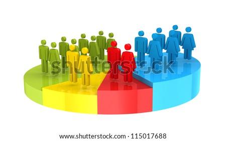 Demography Census - stock photo