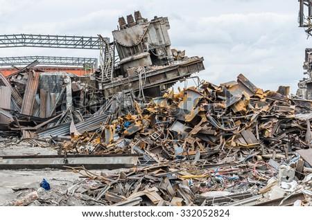 demolished - stock photo