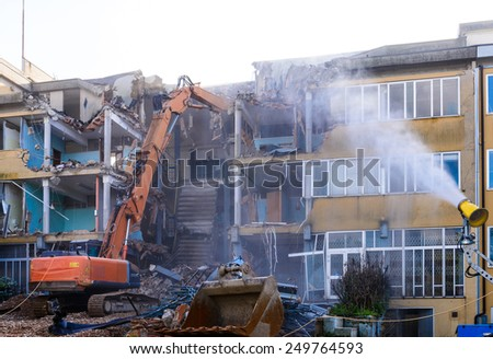 Demolition construction