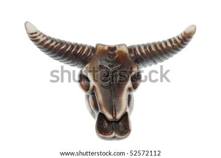 demon bull skull - stock photo