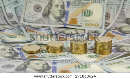 Demonstration of rising the exchange rate of Ukrainian currency for USA dollar   - stock photo