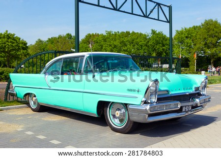 DEN BOSCH, THE NETHERLANDS - MAY 10, 2015: 1957 Lincoln Premiere on the parking lot at the Rock Around The Jukebox event.