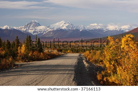 Denali Highway - stock photo