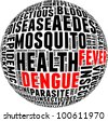 Dengue fever info-text graphics and arrangement with circle shape concept - stock photo