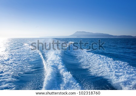 Denia alicante nas Mongo mountain view from sea Mediterranean - stock photo