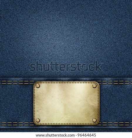 denim jeans background - stock photo