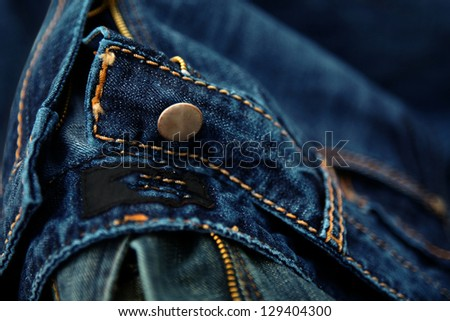 denim jeans image for background - stock photo