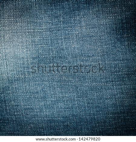 Denim Jeans Texture - stock photo