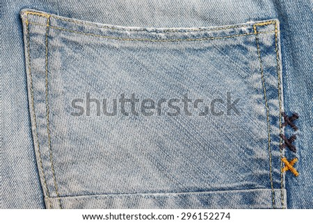 denim jeans texture with space for text. - stock photo
