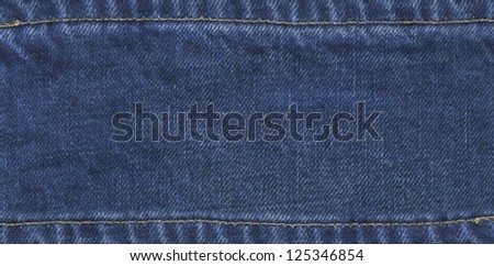 denim label - stock photo