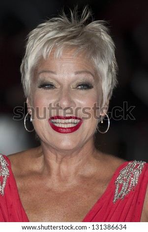 Denise Welch arriving the UK Premiere of Run for your Wife, Odeon Cinema, Leicester Square, London. 05/02/2013 Picture by: Simon Burchell - stock photo