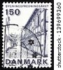 DENMARK - CIRCA 1975: a stamp printed in the Denmark shows Anna Queenstraede, Street in Helsingor, circa 1975 - stock photo