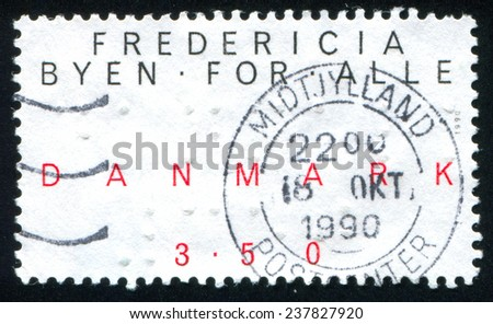 DENMARK - CIRCA 1990: stamp printed by Denmark, shows Denmark stamp, circa 1990 - stock photo