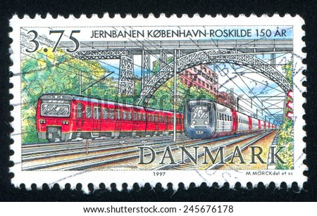 DENMARK - CIRCA 1997: stamp printed by Denmark, shows locomotive Copenhagen, circa 1997