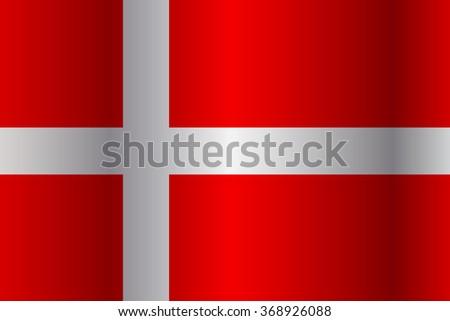 Denmark flag - stock photo