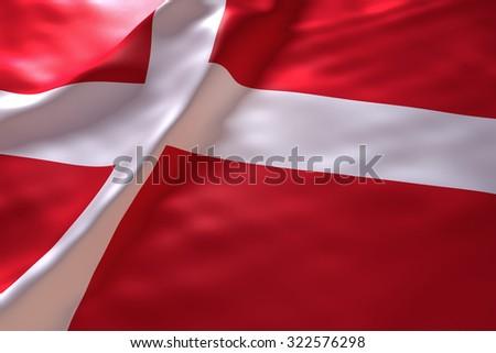 Denmark flag background - stock photo