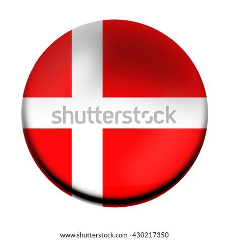 Denmark flag button - stock photo