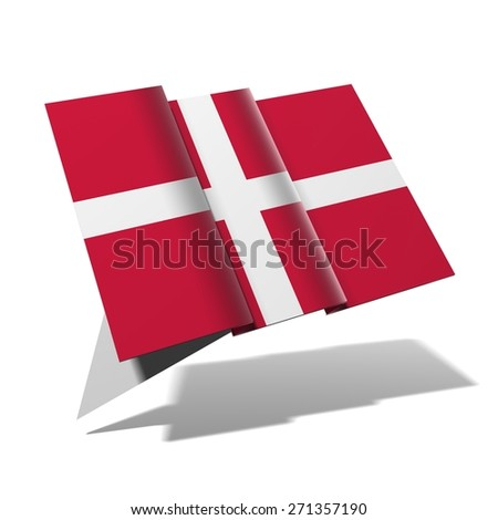 Denmark flag 3D banner - stock photo