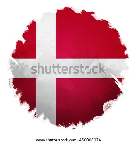 Denmark flag, digital art effect. - stock photo