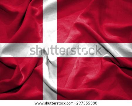 Denmark flag. illustration - stock photo