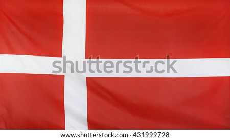Denmark Flag real fabric seamless close up
