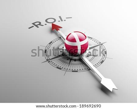 Denmark High Resolution ROI Concept - stock photo