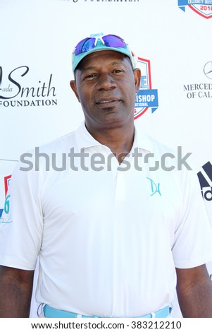 Dennis Haysbert arrives at the inaugural Stephen Bishop celebrity golf invitational benefiting R.A.K.E. on Feb. 15, 2016 at Calabasas Country Club in Calabasas, CA. - stock photo