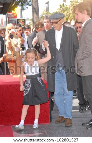 Dennis Hopper and daughter Galen  at the Hollywood Walk of Fame induction ceremony for Dennis Hopper, Hollywood Blvd., Hollywood, CA. 03-26-10