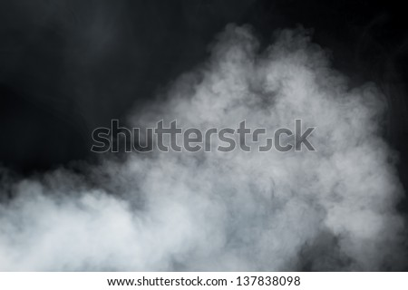 dense smoke background - stock photo