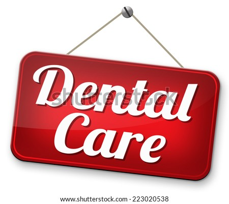 dental care and health insurance teeth surgery and treatment in clinic - stock photo