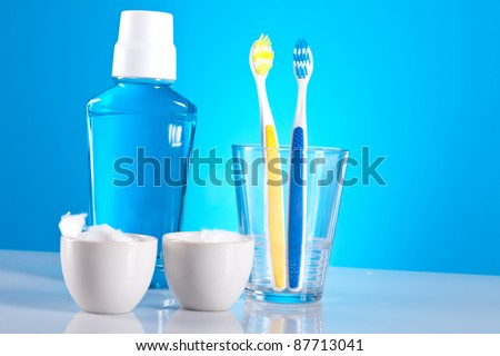 dental care objects - stock photo