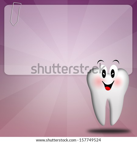 Dental care with tooth - stock photo