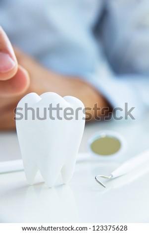 dental concept - stock photo