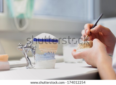 dental dentist objects - stock photo