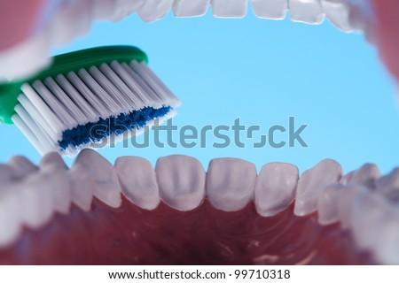 Dental health care objects - stock photo