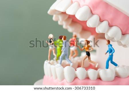 Dental health, sports - stock photo