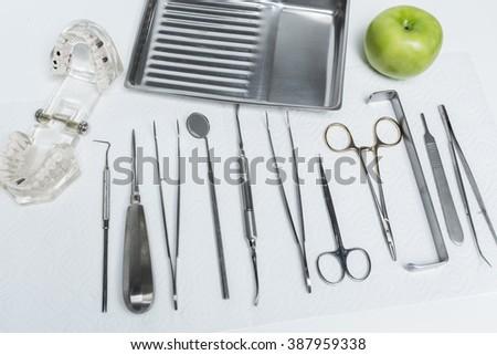 Dental instruments - stock photo