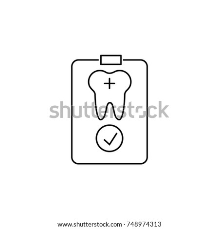 Dental Patient Card Pc Icon Dental Stock Illustration 748974313