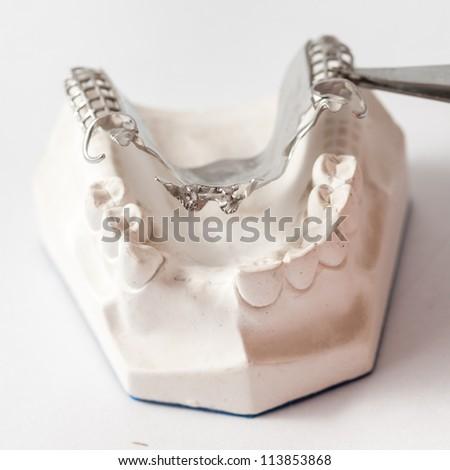 Dental Prothetic laboratory, technical shots - stock photo