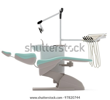 dentist chair - stock photo