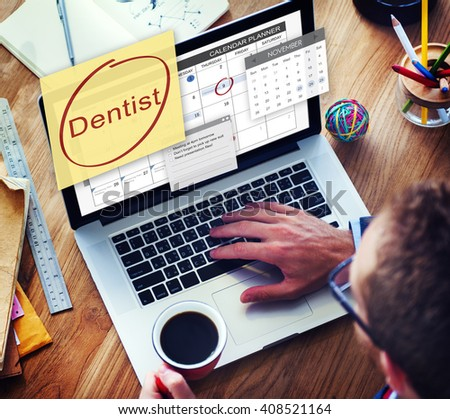 Dentist Healthcare Medical Schedule Appointment Concept - stock photo
