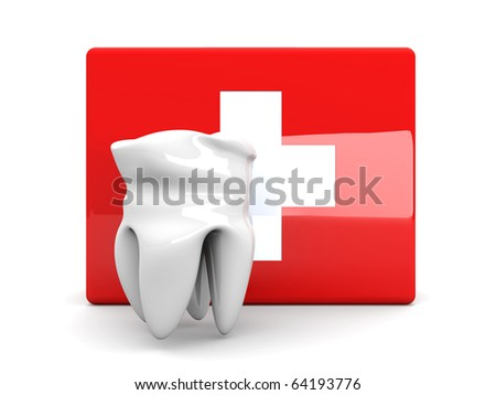 Dentists first aid - stock photo