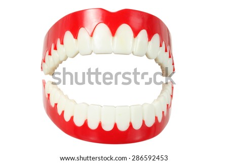 Denture on White Background