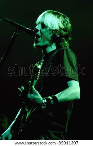 DENVER - APRIL 2:	Vocalist/Guitarist Kevin Palmer of the Alternative Metal band Trust Company performs in concert April 2, 2003 at the Fillmore Auditorium in Denver, CO.